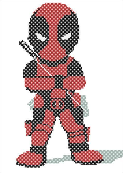 BOGO FREE! DEADPOOL Marvel movie comics character -pdf cross stitch ...