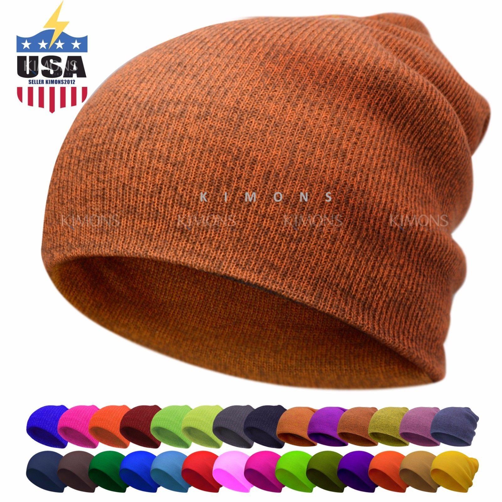 930678177e97c Glitter Beanie Plain Cuff Knit Hat Winter Cap Slouchy Skull Ski Hat Men  Women