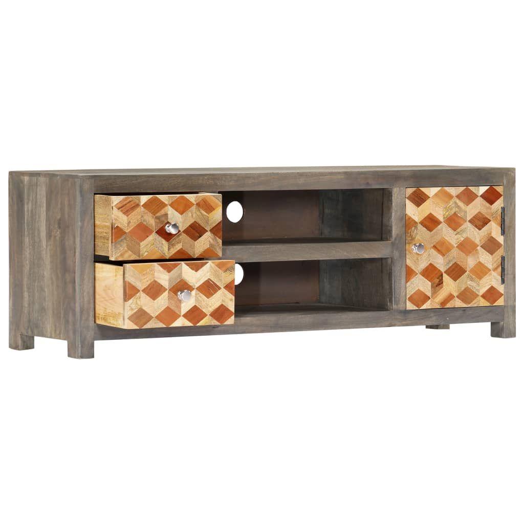 TV Cabinet Grey 120x30x40 cm Solid Mango Wood