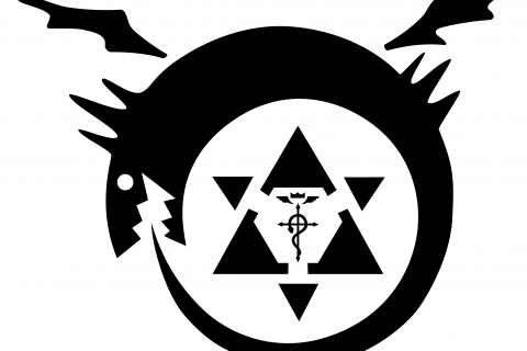 Fullmetal Alchemist Oroborous Simple Background Image 4033x3039