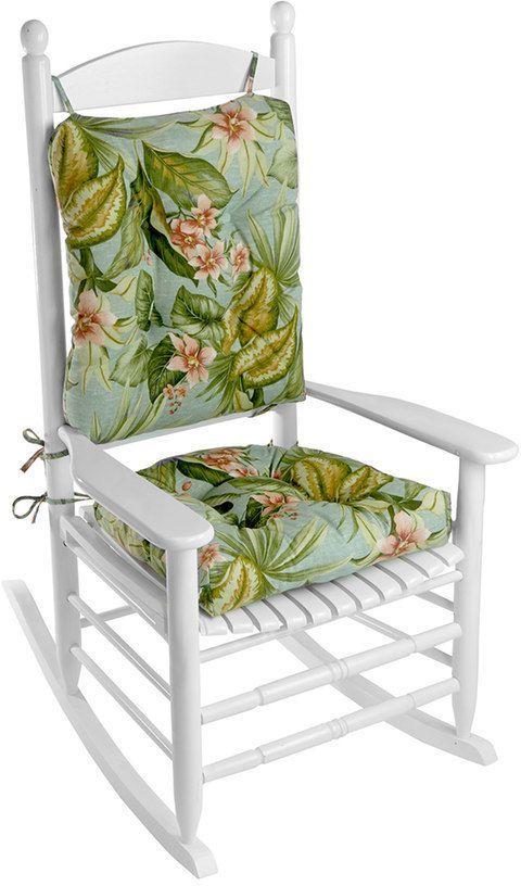 Enjoyable Klear Vu Indoor Outdoor Porch Rocking Chair Cushion Set Interior Design Ideas Pimpapslepicentreinfo
