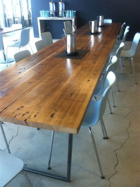 Brooklyn Modern Rustic Reclaimed Wood Conference Table Contemporary Dining Tables