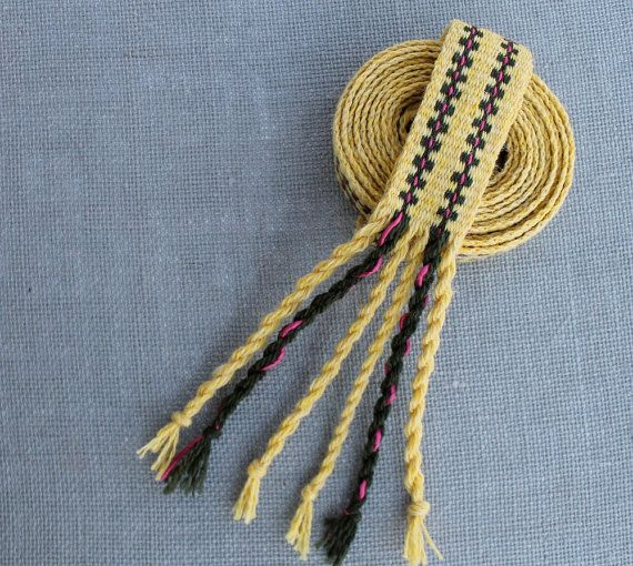 Inkle Weaving, Inkle Band, Inkle Trim, Inkle Belt, Inkle Ribbon, Inkle Woven, Medieval Trim, Medieval Weaving