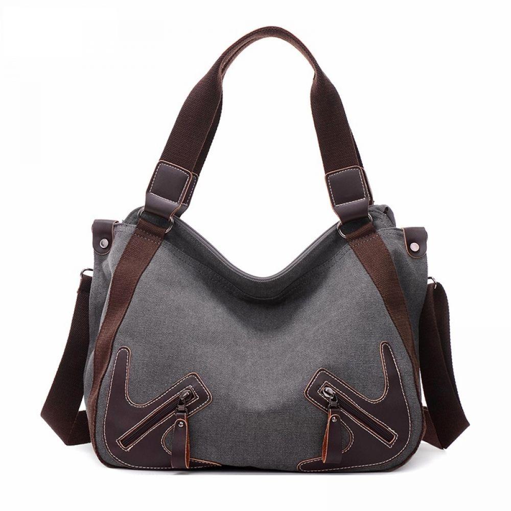 Women Messenger Shoulder Bag Handbag Canvas Large Capacity Travel Tote Satchel S
