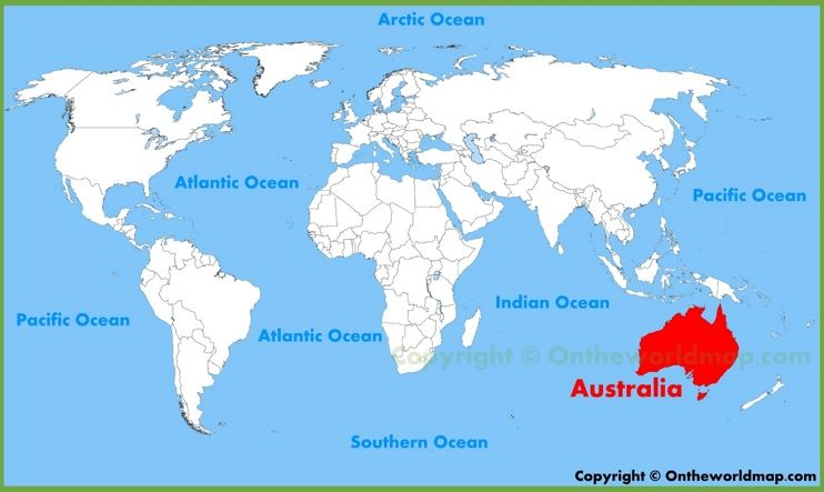 Australia location on the world map maps pinterest location australia location on the world map gumiabroncs Image collections