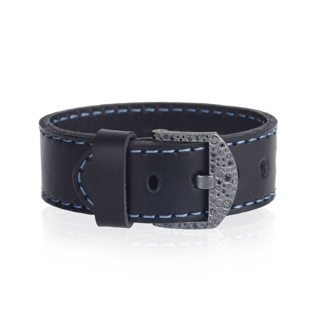 Todd Reed Jewelry, Mens Designer Leather Cuff, Mens Designer Leather Bracelet, Black Diamonds, Custom, One-of-a-kind, Mens Fashion