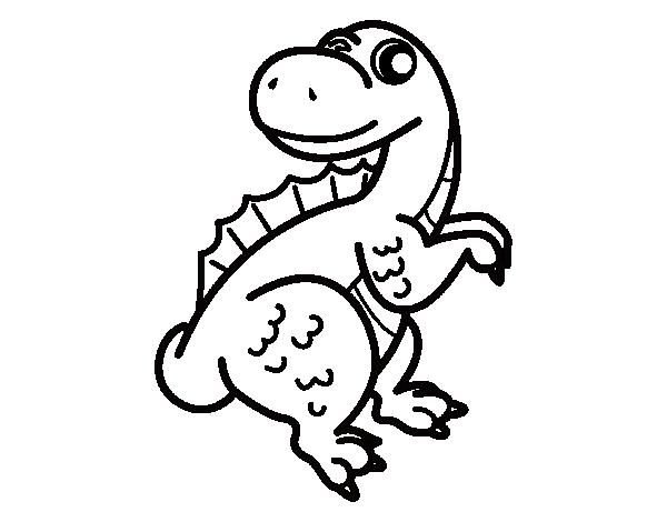 Dibujo de Espinosaurio bebé para colorear | Para colorear ...