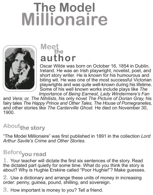 The Model Millionaire | Literawiki | FANDOM powered by Wikia
