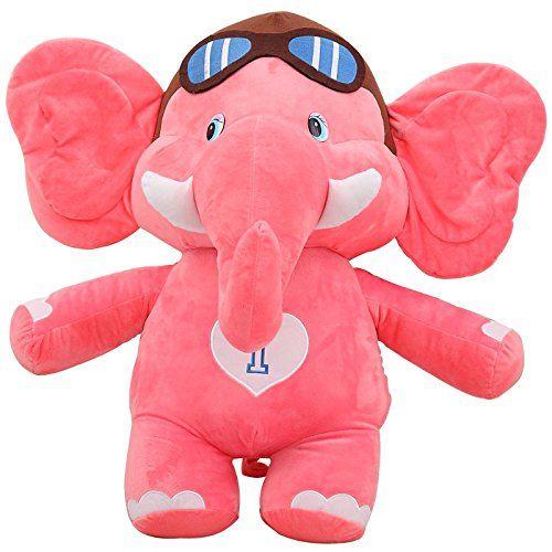 70cm Cute Pilot Elephant Plush Toy Soft Stuffed Animal Doll Xmas
