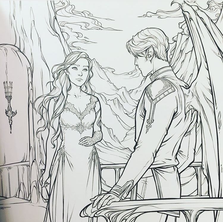 Could Be The End Of Acotar When Rhys Flew Away Because He Realized Something Acomaf Coloring Book Coloring Books A Court Of Mist And Fury Sarah J Maas Books