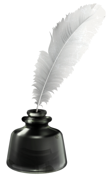 Quill And Ink Pot Transparent Png Vector Clipart Quill And Ink Feather Pen Tattoo Ink Pen Drawings