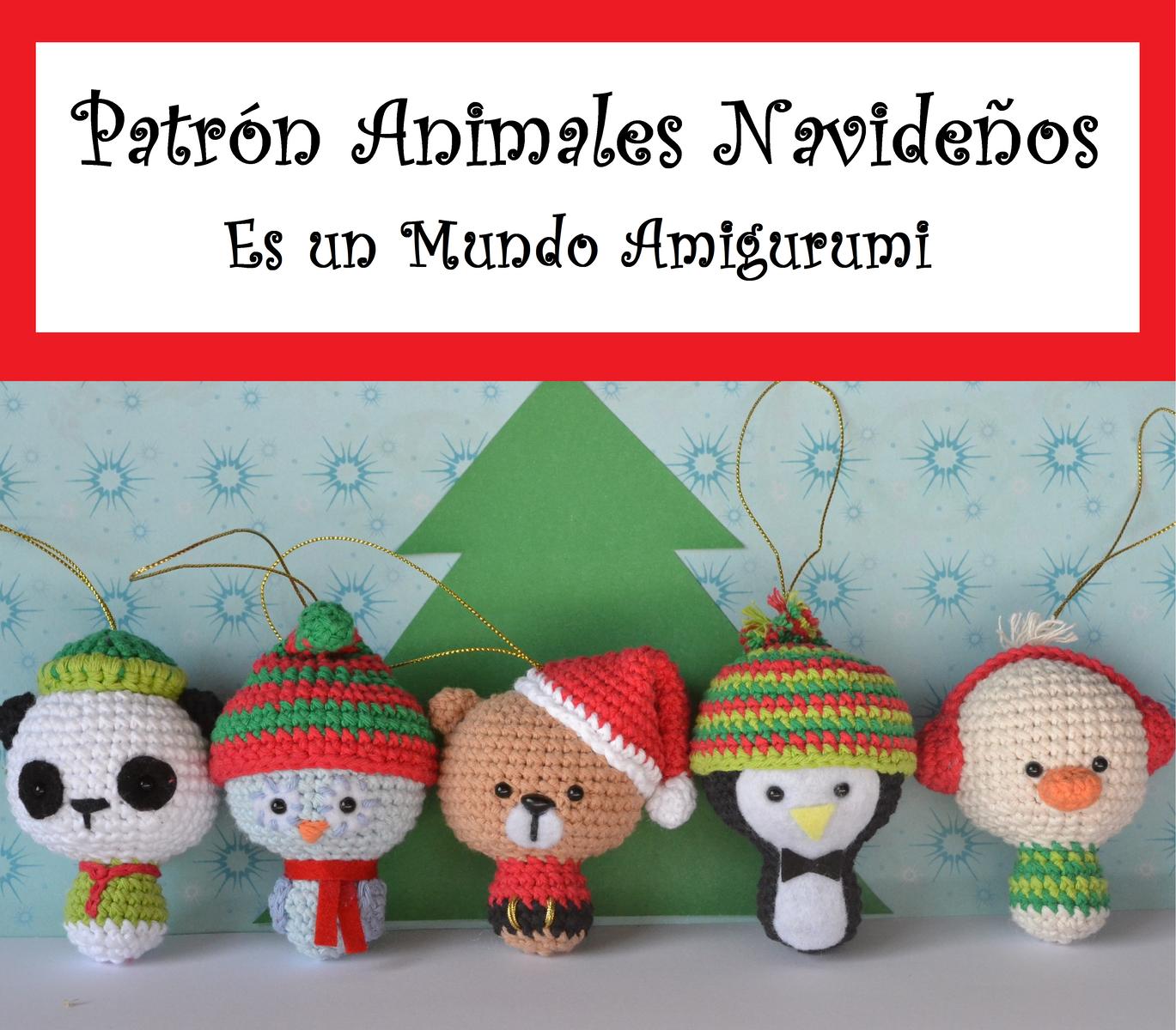 Es un Mundo Amigurumi: Patrón Animales Navideños | crochet ...
