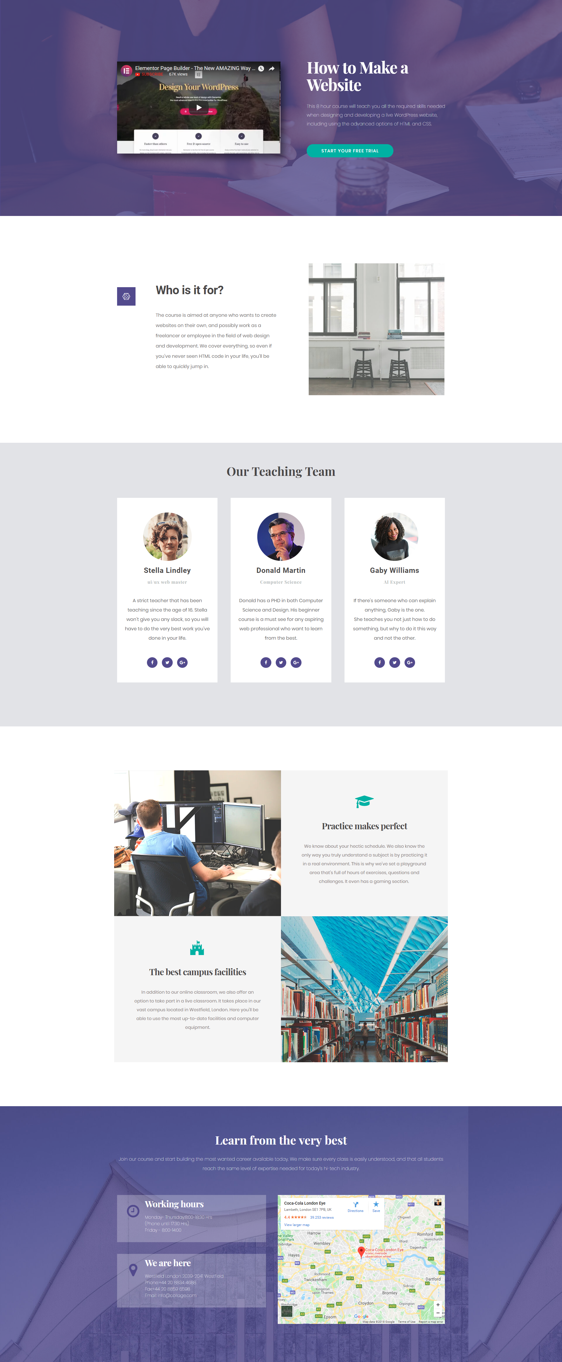 Free Elementor Template For A Case Study Free Wordpress Website Popular Wordpress Themes Website Design