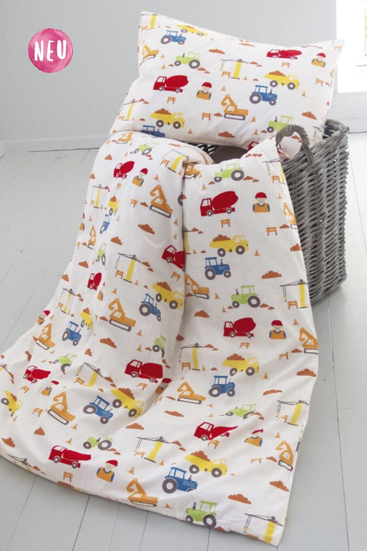 Kinderbettwasche Bio Baumwolle Baustelle Von Hans Natur Bettbezug