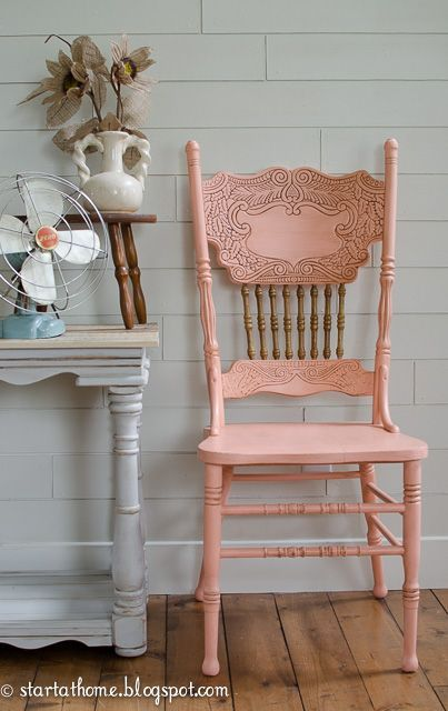 Captivating Coral Pressed Back Chair (Totally Going In My Dinig Room!