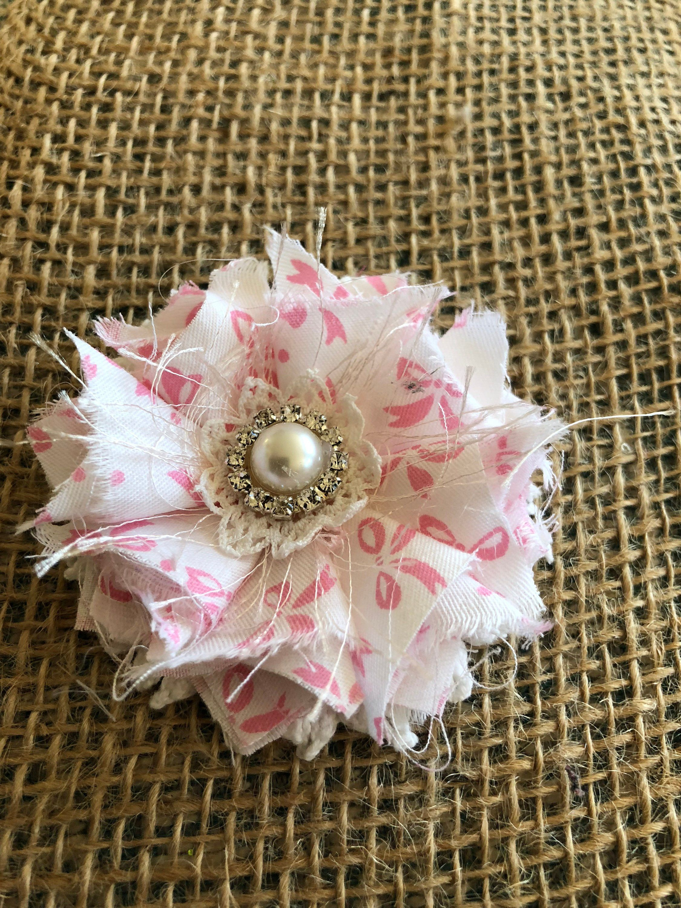 Shabby Chic Fabric Flower Country Chic Flower Cottage Chic Embellishments Pink Fabric Flowers Baby Girl Headb Fabric Flowers Chic Flowers Shabby Chic Fabric