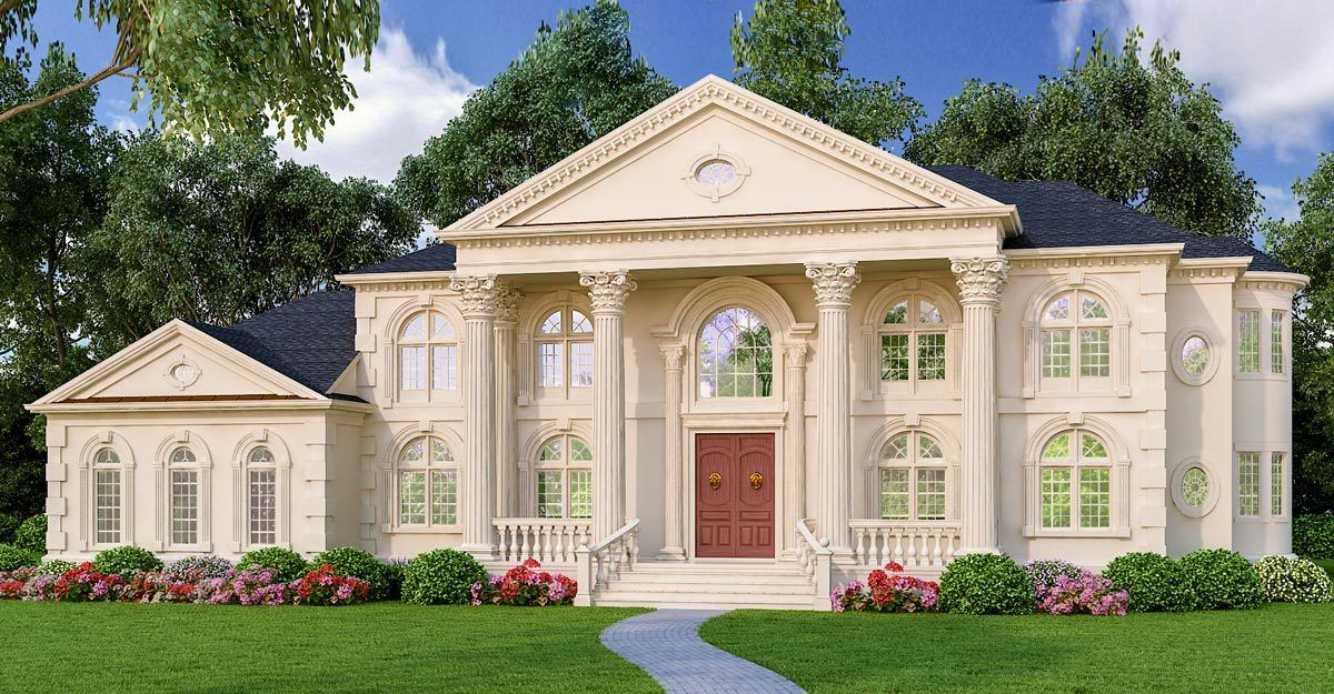Plan 12257jl Old World Appeal Colonial House Plans Luxury House Plans House Plans