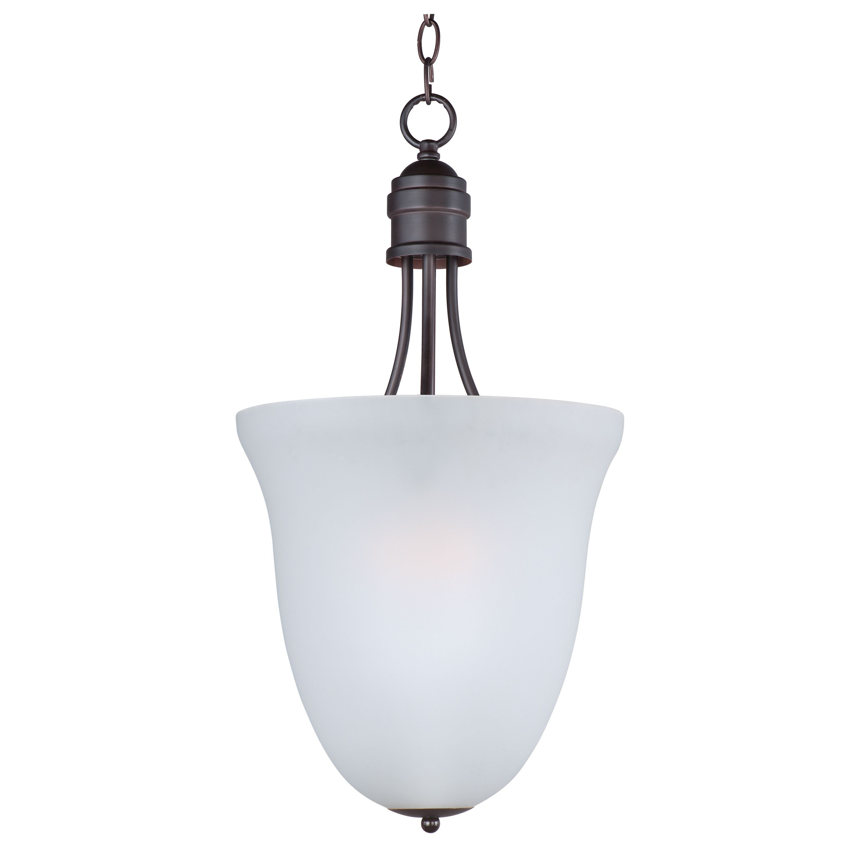 Maxim logan entry foyer light pendant oil rubbed bronze frosted