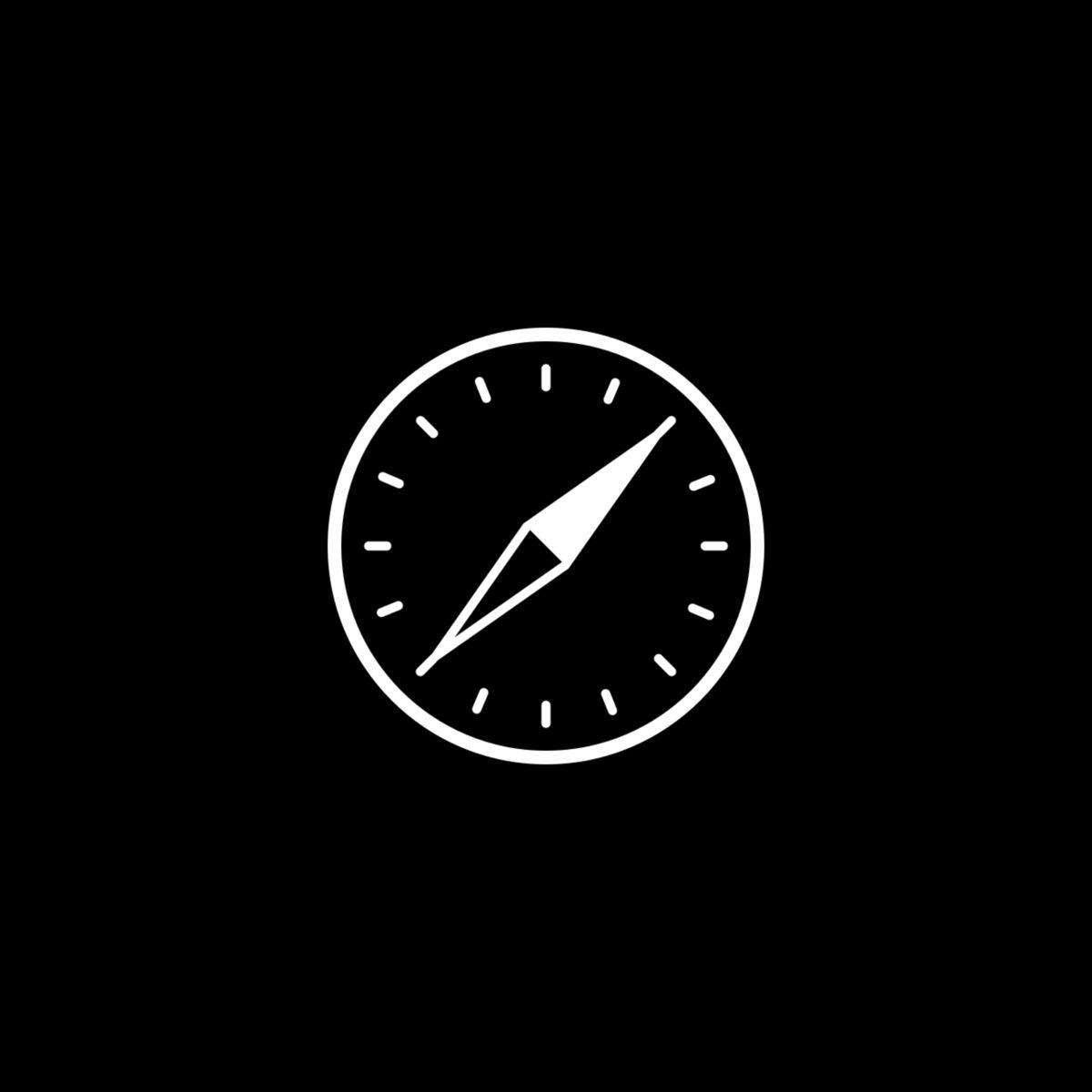 Black Aesthetic Safari App Icon For Ios14 Black App App Icon Ios App Icon Design