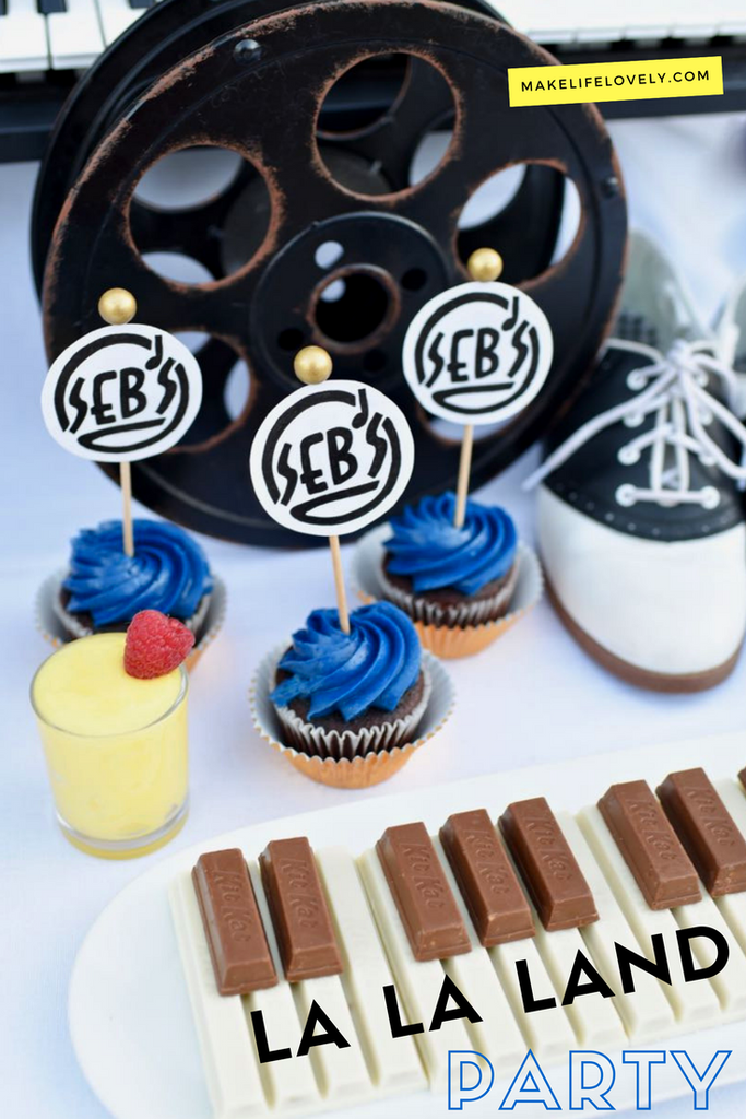 La La Land party ideas that will have you dancing! This awards party has lots of details from the movie, yummy party food, and so much more.