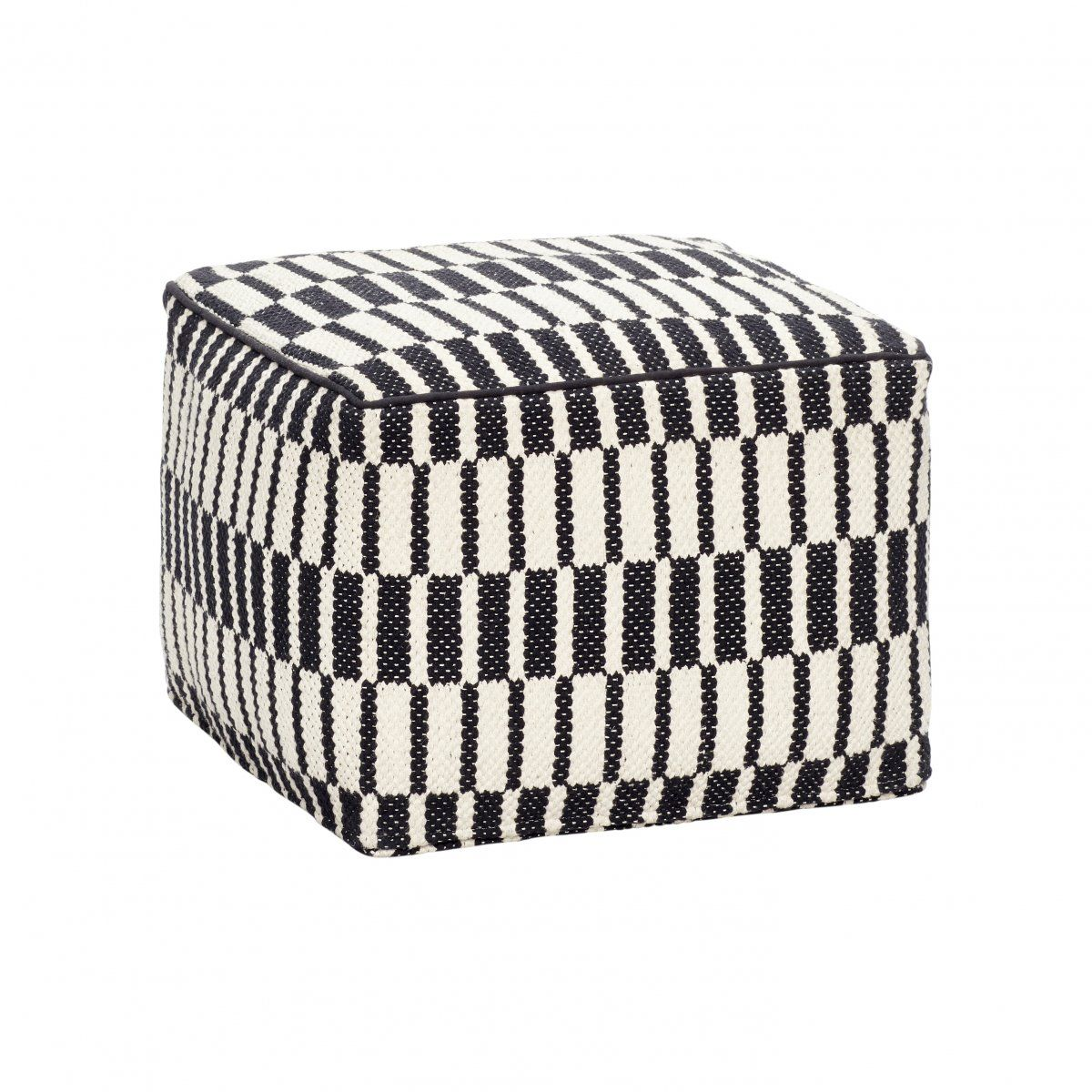 HYGGE Design Puf, siedzisko Pattern Square Black White