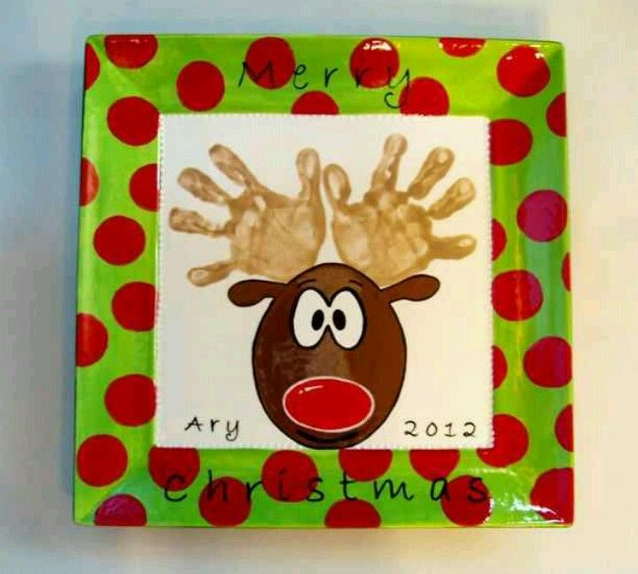Rudolph With Kids Hands As Antlers!