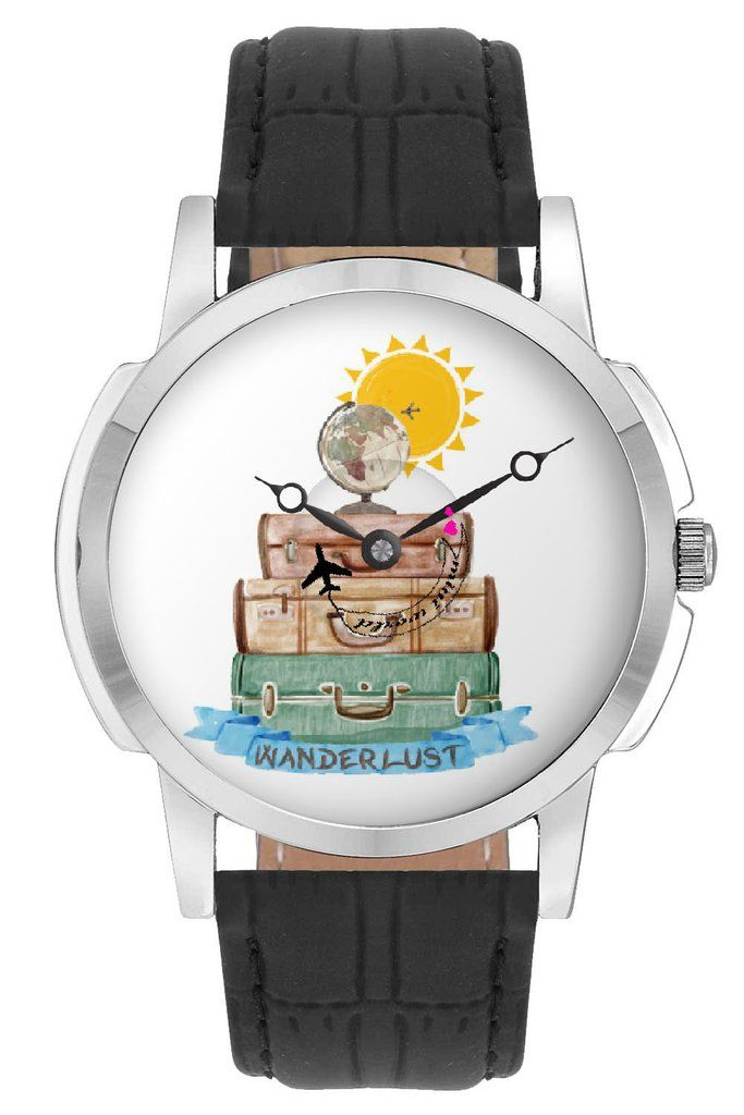 Travel watch airplane world map design leather strap casual wrist travel watch airplane world map design leather strap casual wrist watch online india gumiabroncs Images