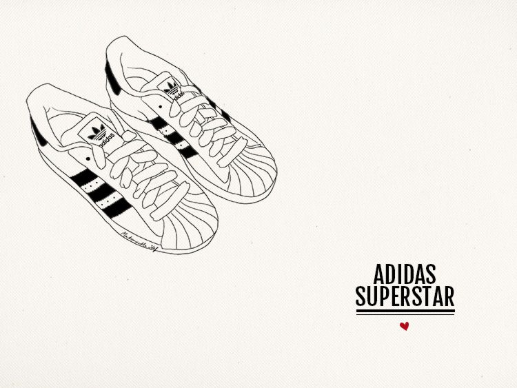 Adidas Superstar Mademoiselle Stef Blog Mode, Dessin