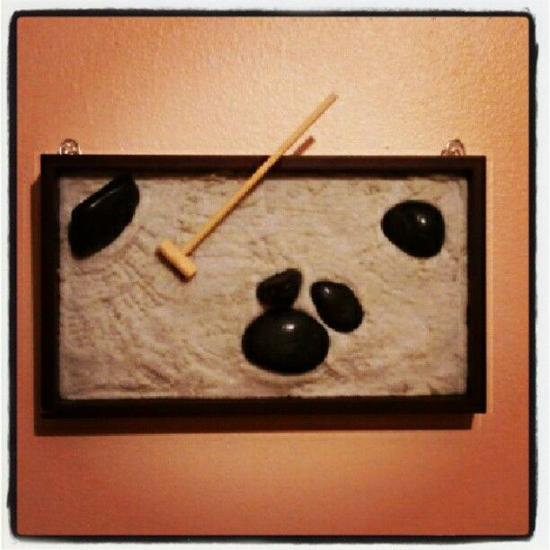 Zen Garden Wall Art I Made Made With Actual Sand Stones And
