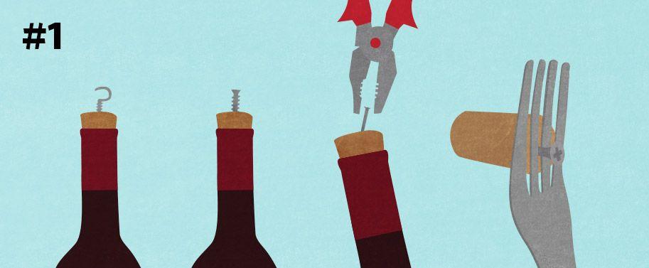 Open Wine Bottle Without Corkscrew