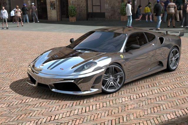 Chrome Ferrari F430 . The Hottest Wheels Need A Hot Garage  Only At Porsche  Design