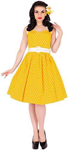 Dolly and Dotty 'Sophie' Polka Dot Halter Neck Vintage Swing Dress Yellow Size 22 Dolly and Dotty http://www.amazon.co.uk/dp/B010TMR98O/ref=cm_sw_r_pi_dp_IyWJwb1Q4GJ8E