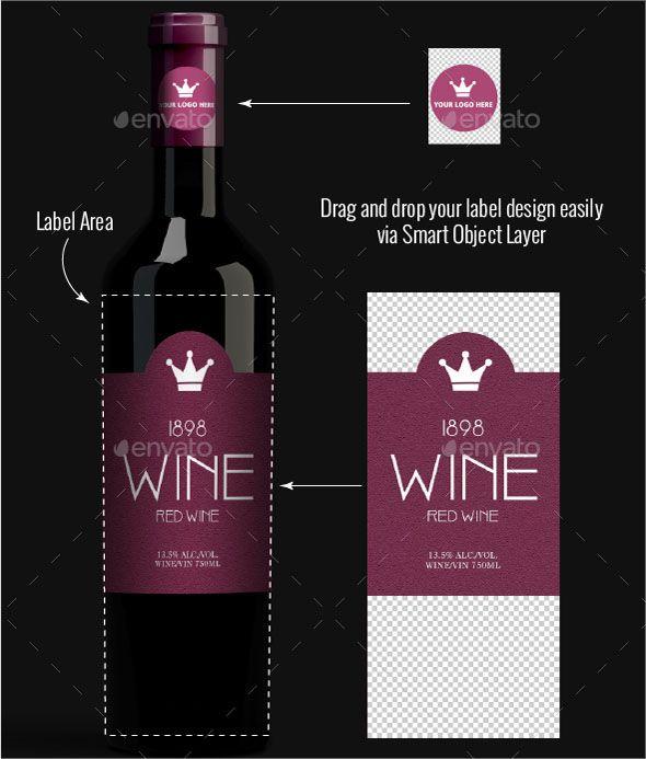 Download Wine Bottle Mockup Psd Wine Label Template Wine Bottle Label Template Wine Bottle