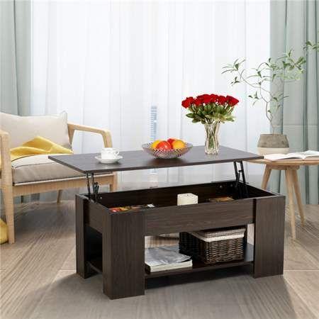Yaheetech Modern Lift Up Top Tea Coffee Table W Hidden Storage