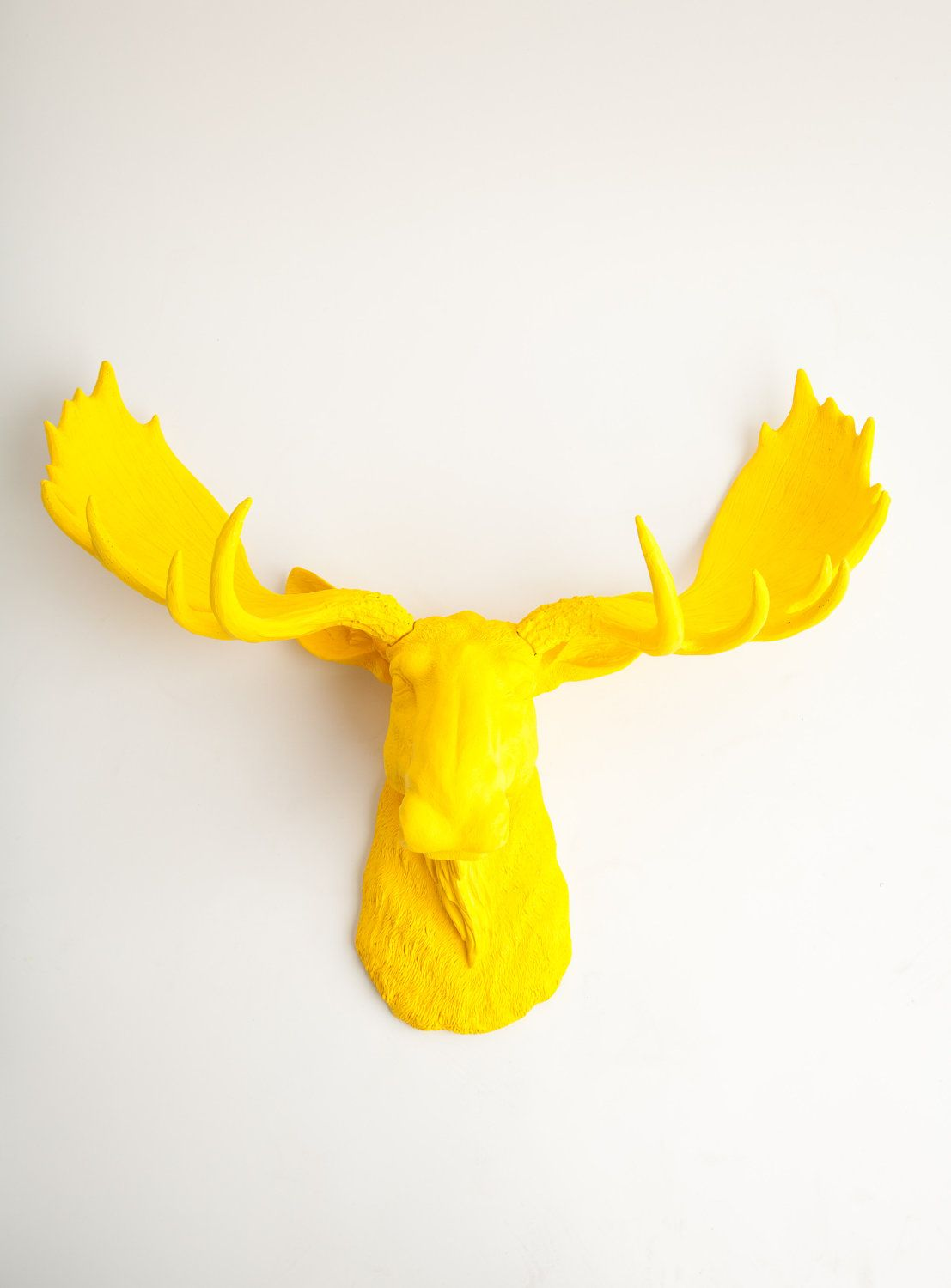 The Egberton Yellow Resin Moose Head Moose by WhiteFauxTaxidermy ...