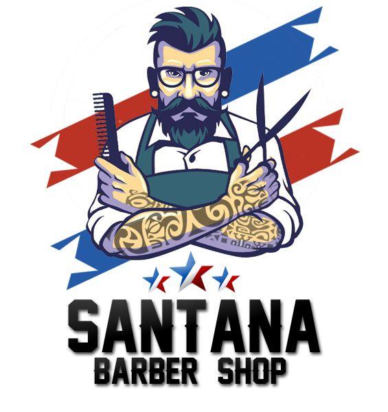 santana barber shop logo