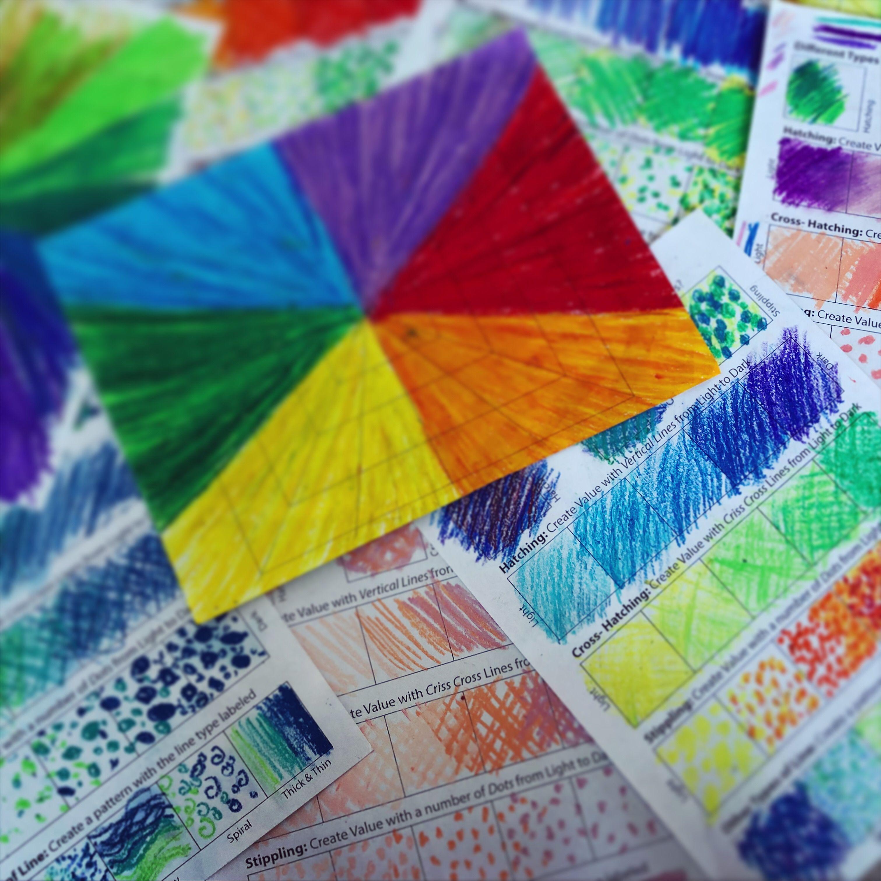 Art 101 Fun N Easy Color Worksheet Plus An Art Theory