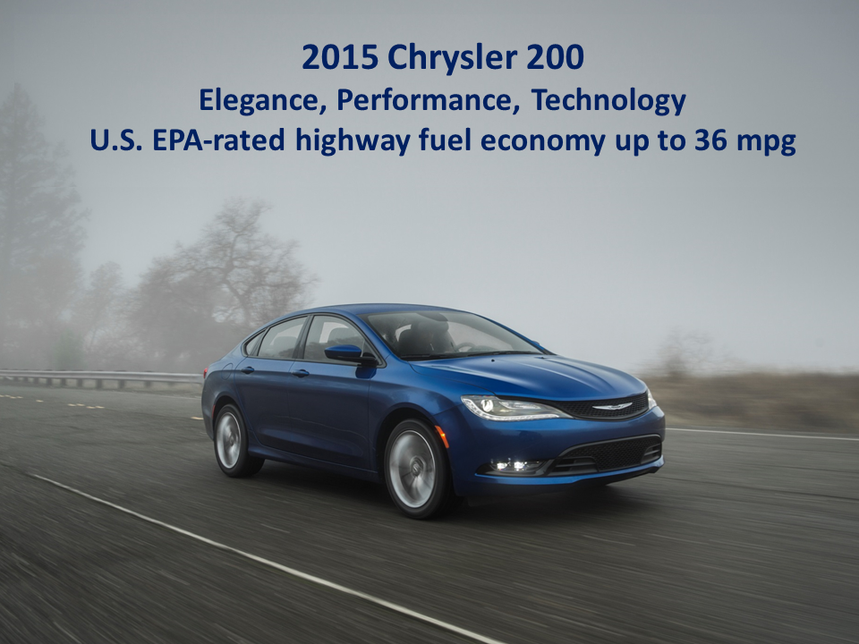 all new 2015 chrysler 200 delivers highway fuel economy ratings of up to 36 miles per gallon. Black Bedroom Furniture Sets. Home Design Ideas
