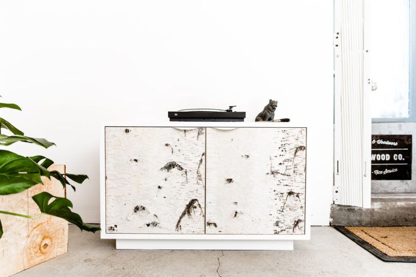 Ikea Birch Credenza : The birch bark series by union wood co design milk