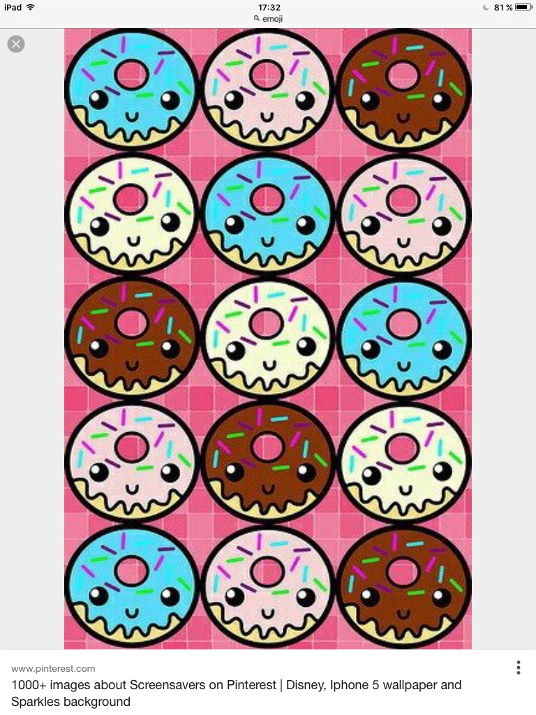 Donut Crazy Phone Backgrounds Iphone Wallpapers Wallpaper Diy Stickers Kawaii Cellphone Donuts Ipad Background