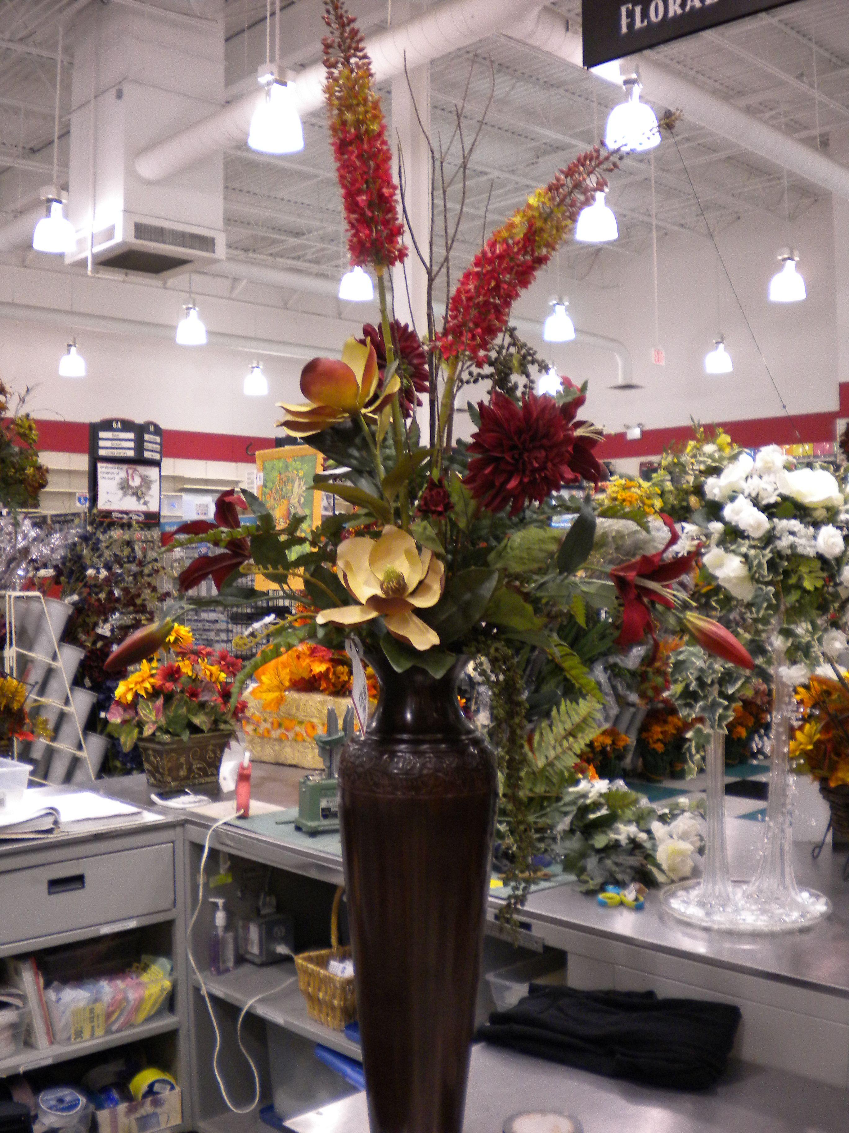 tall urn flower arrangements