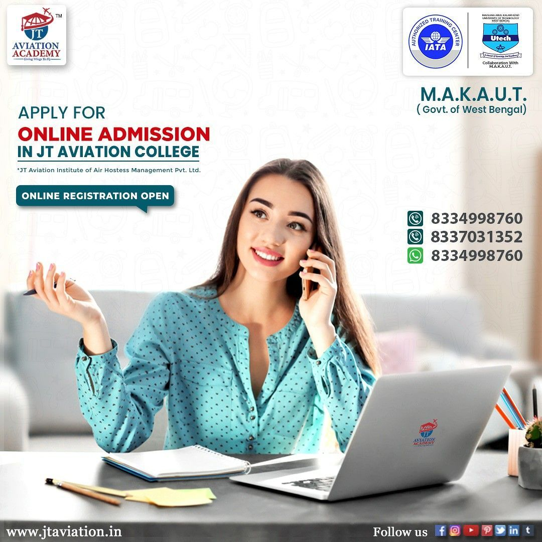 Getting Admission In The Jt Aviation College Is Easy For The Benefit Of The Students The Online Admission Procedure Is Sta In 2020 Aviation College Online Mba Online