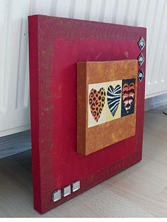 Basteln gestalten keilrahmen ideen und deko meine gebastelten werke rahmen basteln und - Leinwand gestalten basteln ...