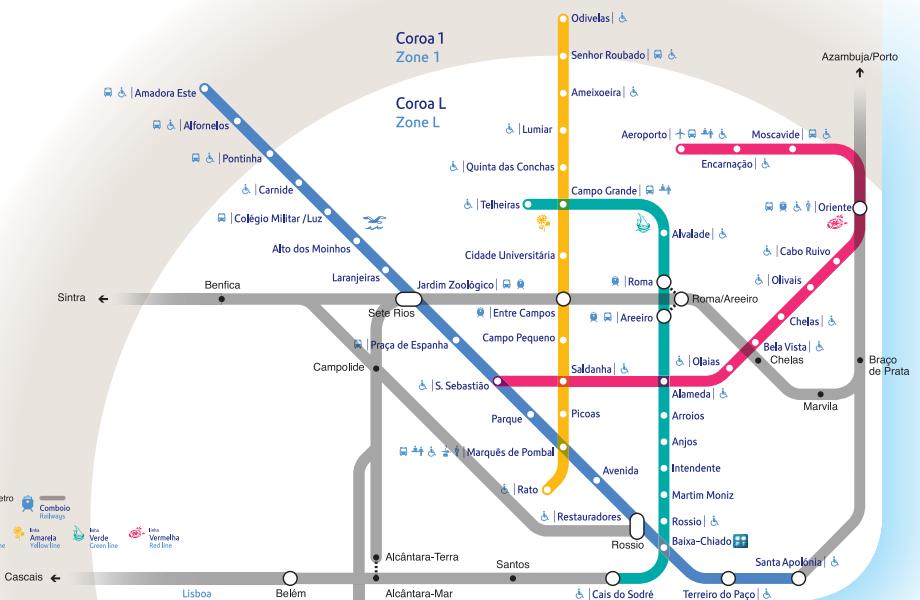 Subway Map Of Lisbon.Lisbon Metro Subway Underground Map Pdf Travel Lisbon Airport
