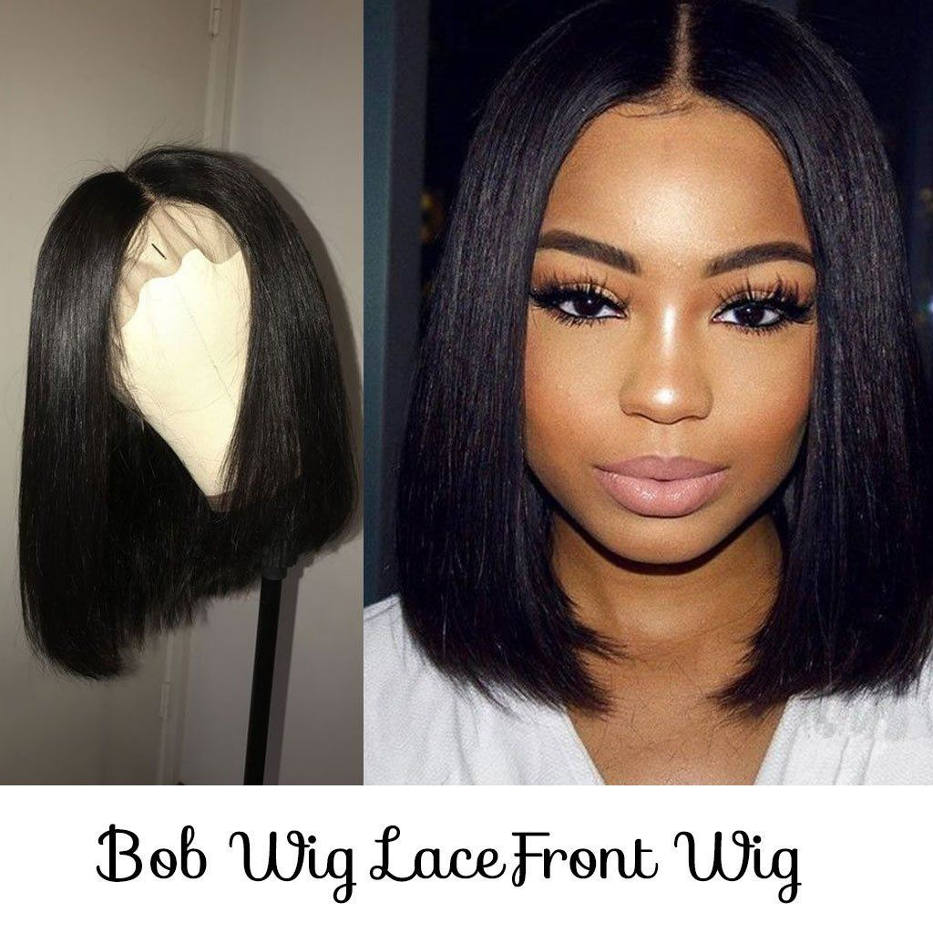 Bombtress hair offers top quality middle part bob lace front wigs