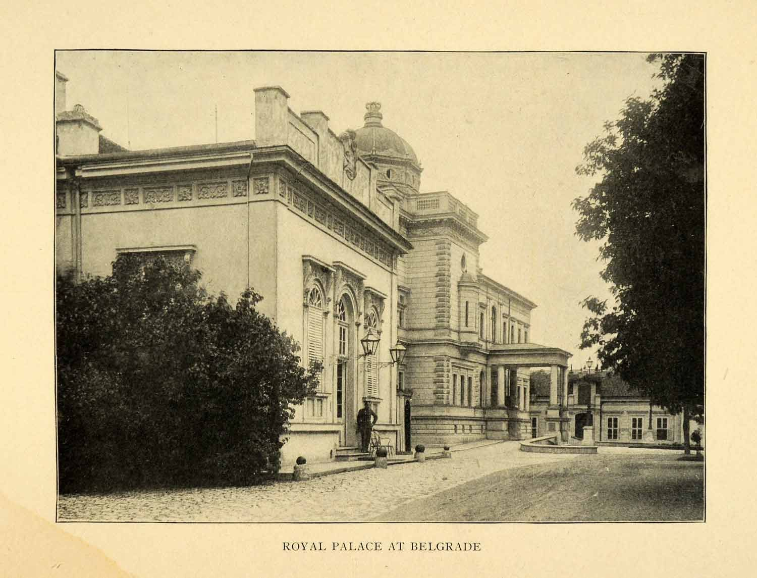 1903 Print Royal Palace Belgrade Serbia Compound Kraljevski Dvor Dedinje XGW6                                                                                                                                                                                 More