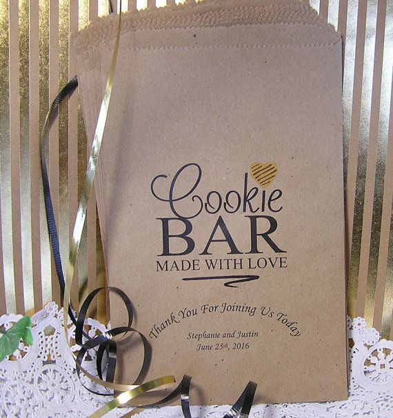 Personalized Cookie Bags Wedding Cookie Bags Cookie Bar Bags Cookie Buffet Made With Love C03 P18 Personalized Cookie Bags Wedding Cookies Cookie Bags