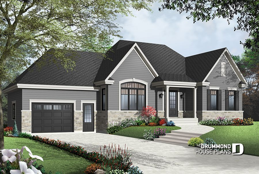Discover The Plan 2163 V2 Springbrook 3 Which Will Please You For Its 2 Bedrooms And For Its Craftsman Northwest Styles Craftsman Style House Plans Bungalow House Plans House Plans