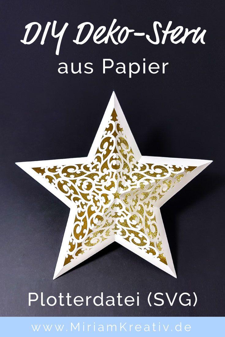 Schnörkel-Stern (groß | Papier deko weihnachten