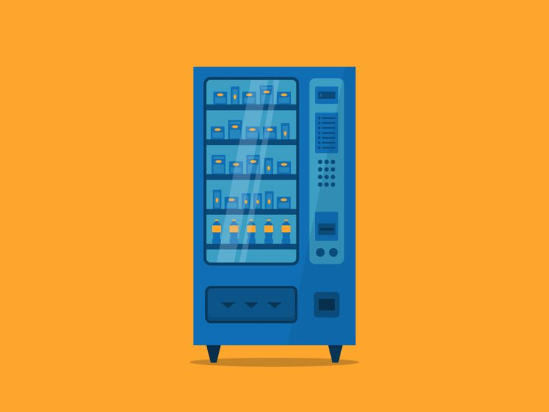 Vending Machine | Flat Design | Pinterest | Vending machine, Flat ...